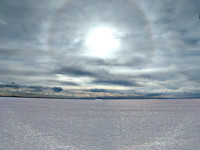 46° halo on snow surface