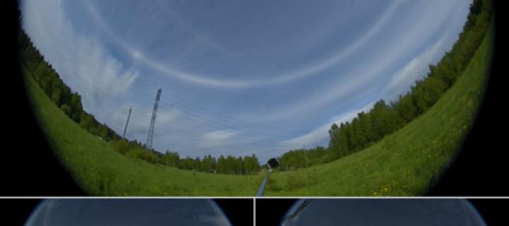Short lived all sky display in Joensuu