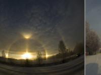 Halos on 6 November in Rovaniemi