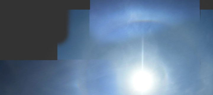 Pyramidal crystal halos from 15th to 17th May