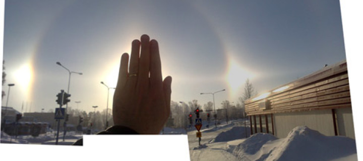 Two diamond dust displays in Finland