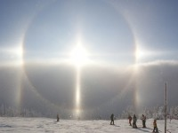 Halo displays in the Czech mountains  on 26/27 December 2008