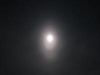 Moon elliptical halo in Kangasala, Finland