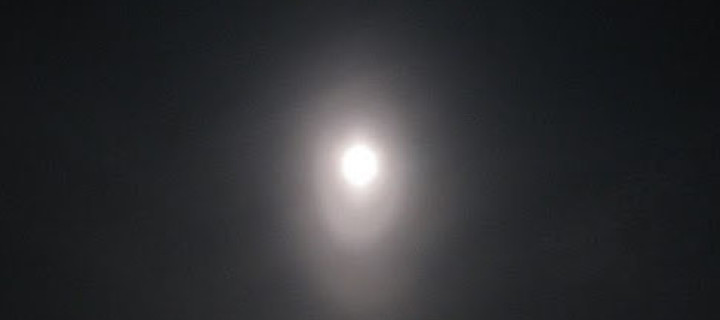 Moon elliptical halo in Kangasala, Finland