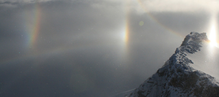Superb diamond dust display in Austria