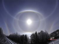 Lunar halo complex in Sotkamo, Finland
