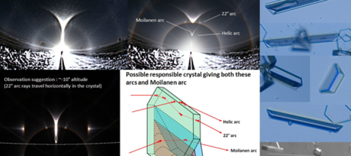 Suggestion of observation: possible spurious arcs from Moilanen crystals