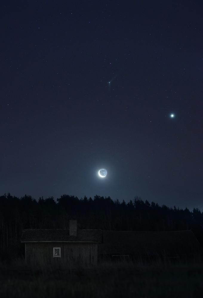 Matti Helin kuvasi Catalinan (Kuun päällä) 8.12.2015 aamuna klo 5:20.