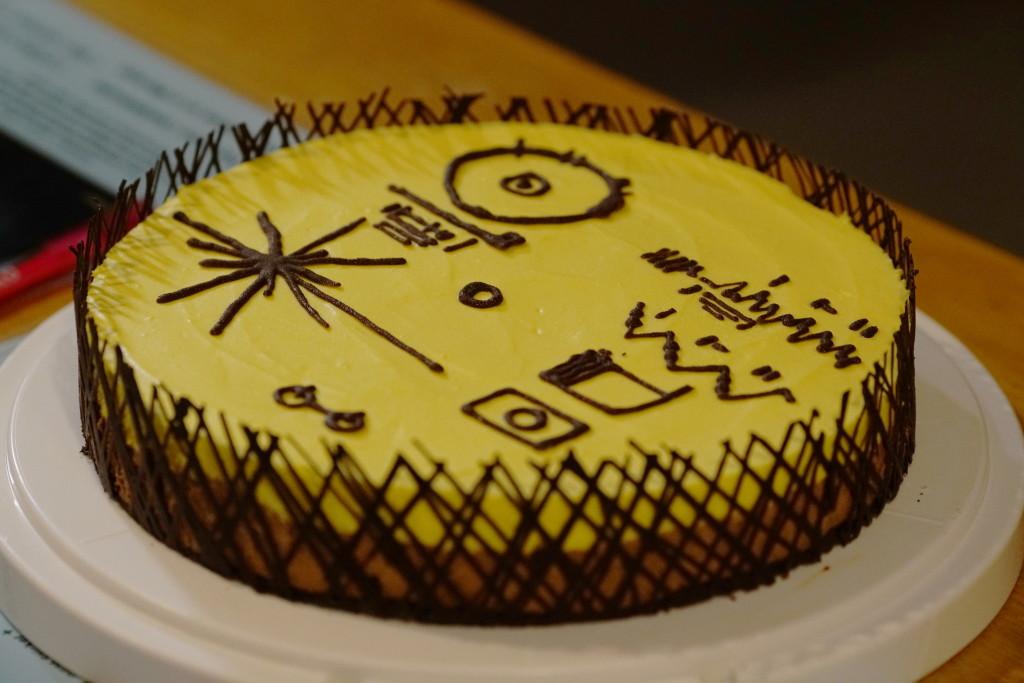 Maria Lahtisen valmistama Voyager disc -kakku.