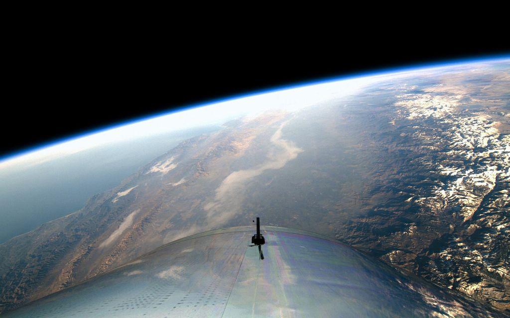 Maisema nähtynä Virgin Galacticin VSS Unity -aluksesta