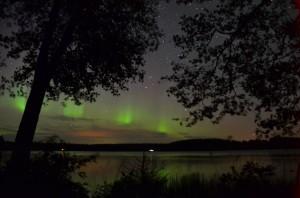 Revontulia Rautalammilla 27.9.2014. Kuva: Arja Siikström