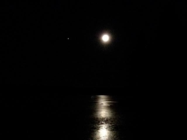 Kuu ja Jupiter marraskuussa 2012. Kuva: Martti Rintala