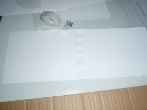 Kuva 3. Suodinta varten tehtävän pahviputken tekeminen kartongista.