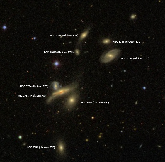 Hickson 57 - Sloan Digital Sky Survey.