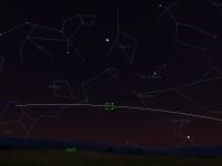 Avaruusasema näkyy iltataivaalla