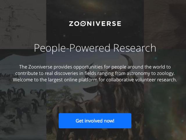 Tutustu Zooniverse-palveluun https://www.zooniverse.org