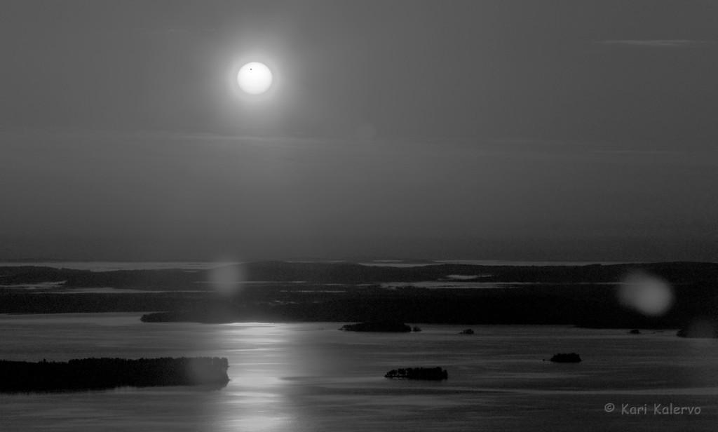 Kari Kalervo havaitsi Venuksen ylikulkua 6.6.2012 Kolin huipulla.