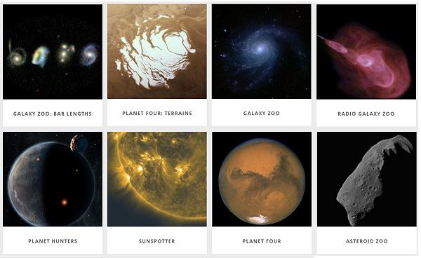 Tähtitieteellisiä Zooniverse-projekteja