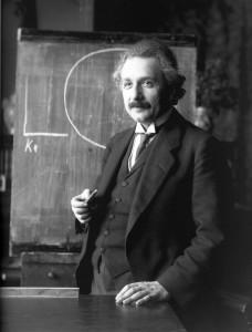 Suhteellisuusteorian kehittäjä Albert Einstein vuonna 1921.