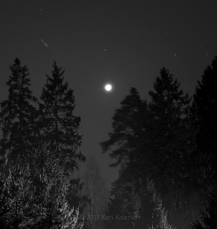 Venus ja Neptunus kohtasivat 12.1.2017. Kuva: Kari Kalervo.