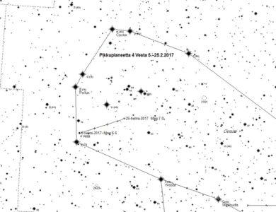 Taivaalla nyt – pikkuplaneetta 4 Vesta