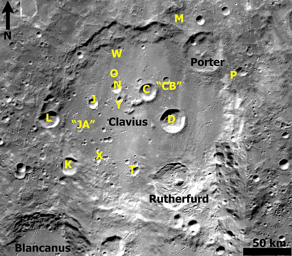 Kuva 4: Clavius Clementine Mercator-kartta