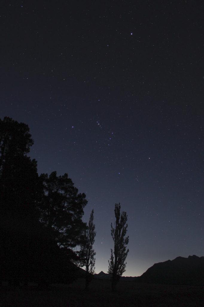 Orion väärin päin taivaalla