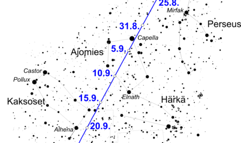 Komeetta Giaconini-Zinner kirkastuu odotetusti