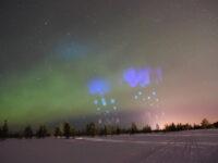 Erikoinen raketti-ilmiö väritti yötaivasta