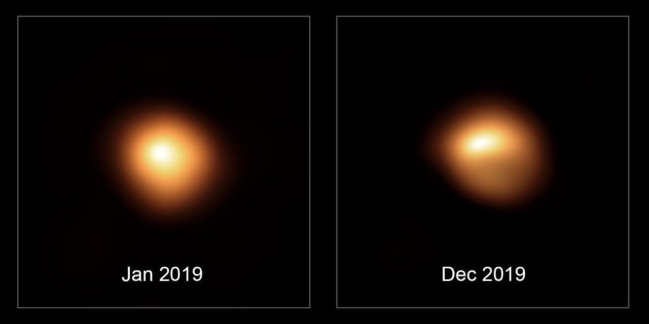 Betelgeuse tammi- ja joulukuu 2019